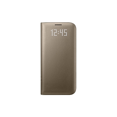 Samsung LED View Cover GS7 Edge Phone Case, Gold
