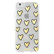 Skech® Fashion Protective Case for Apple iPhone 7, Gold and Silver Metallic Hearts (SK28FSNHRT)