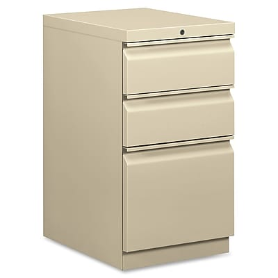 HON 3 Drawer Vertical File Cabinet, Putty, 20