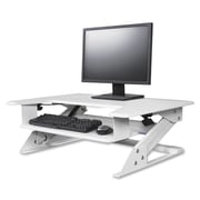 """Kantek STS900W Monitor Riser, Up to 24"""" Screen Support, 5.3"""" Height x 35"""" Width x 24"""" Depth, White"""