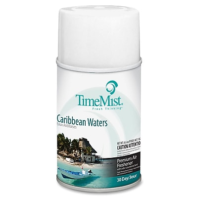 TimeMist Metered Aerosol Fragrance Dispenser Refills, 6.6 oz, Caribbean Waters, 12/Carton (1042756) TMS1042756