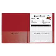C-Line Classroom Connector School-to-Home Heavyweight File Folder, Letter Size, Red, 25/Box (CLI32004)