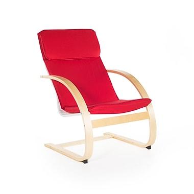 Guidecraft – Chaise berçante pour enseignants G6468K, 26 larg. x 27 prof. x 40 haut. (po), rouge