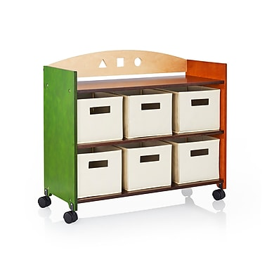 Guidecraft G98305 See & Store Rolling Storage Center, 33 x 14 x 29.5