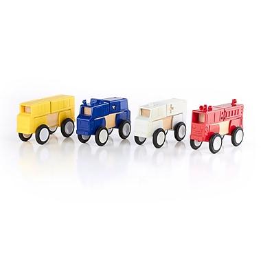 Guidecraft – Block Mates en forme de véhicules communautaires G7604, tailles variées, multicolore