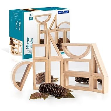 Guidecraft – Ensemble Mirror Blocks de 10 morceaux G3017, tailles variées, bois naturel
