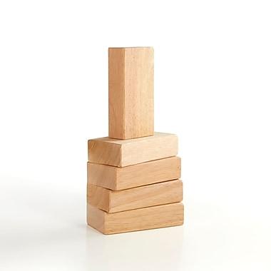 Guidecraft – Blocs unitaires en bois dur G7600, 5 pièces, tailles différentes, multicolore