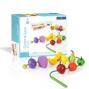 Guidecraft – Fruits à compter et à lacer G6803, différentes tailles, multicolore