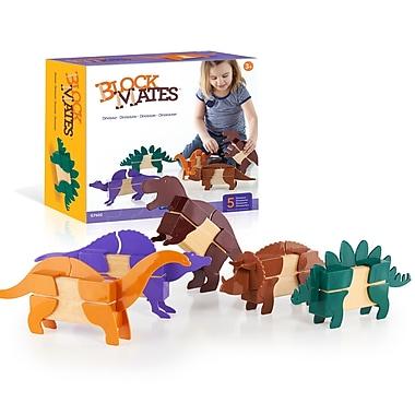 Guidecraft G7602 Block Mates Dinosaurs, Various Size, Multicolour