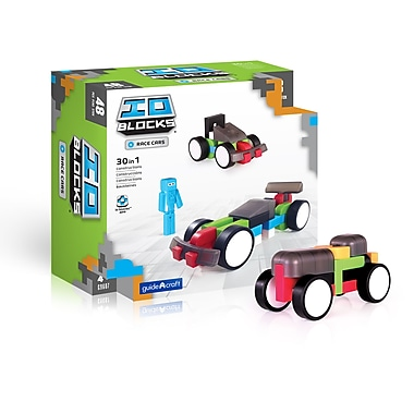 Guidecraft G9607 Io Blocks, ® Race Cars Set, Various Size, Multicolour Set