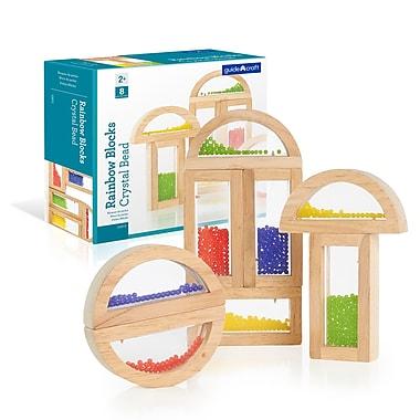 Guidecraft G3012 Rainbow Blocks, Crystal Bead, Various Size, Multicolour
