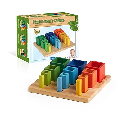 Guidecraft – Cubes à empiler et à emboîter G6728, 8 x 9 x 3 po, multicolore