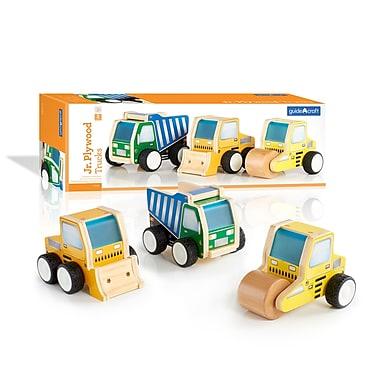 Guidecraft G7522 Jr Plywood Construction Trucks, 3.75 x 2.5-3.5 x 5