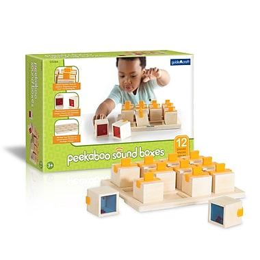 Guidecraft – Boîtes à son Peekaboo G5084, bois naturel