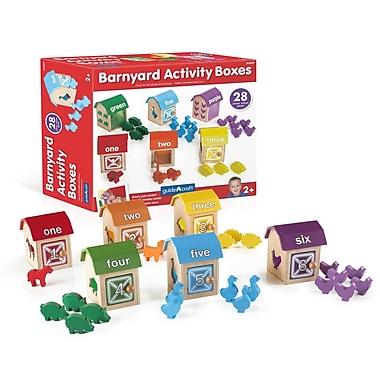 Guidecraft G5059 Barnyard Activity Bo x es, 3.5 x W x 3.25D x 4.5H