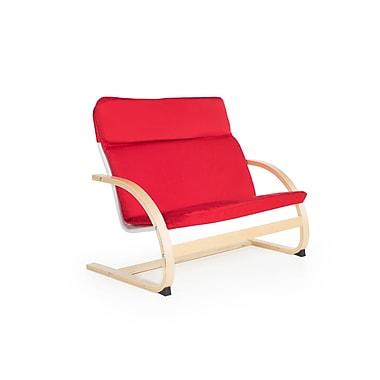 Guidecraft – Canapé berçant pour enfants G6401k, 31,5 larg. x 19 prof. x 25,5 haut. (po), rouge