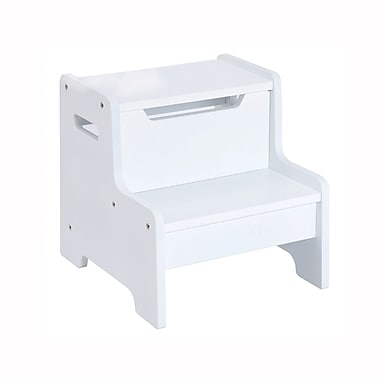 Guidecraft G87106 Expressions Step Stool White 13 x 14.4 x 13.4
