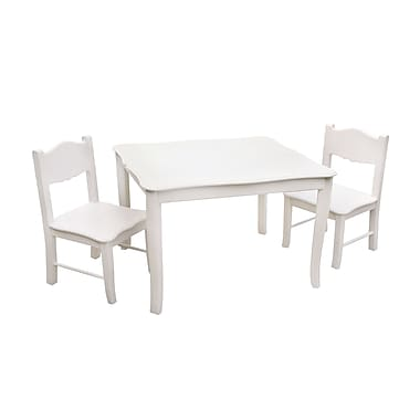 Guidecraft G85702 Classic White Table & Chairs Set28 x 24 x 21