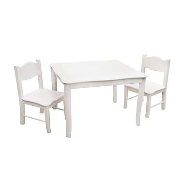 Guidecraft – Ensemble classique de table et chaises G85702, 28 x 24 x 21 po, blanc
