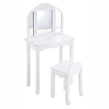 Guidecraft G87104 Expressions Vanity & Stool White 24 x 11.5 x 42.25