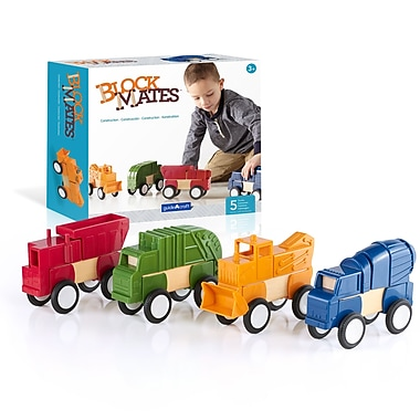 Guidecraft G7605 Block Mates Construction Vehicles, Various Size, Multicolour Set