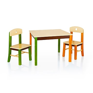 Guidecraft G98302 See and Store Table & Chairs Set, Table: 28 x 28 x 21 Chair: 12.5 x 12.5 x 25