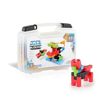 Guidecraft G9604 Io Blocks, ® 59 Piece Travel Set, Various Size, Multicolour Set