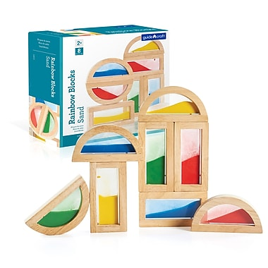 Guidecraft G3014 Rainbow Blocks, Sand, Various Size, Multicolour