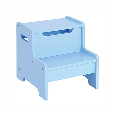 Guidecraft G87606 Expressions Step Stool Light Blue 13 x 14.4 x 13.4
