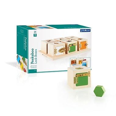 Guidecraft – Ensemble de 6 boîtes verrouillées Peekaboo G5058, 15,75 x 10,75 x 4,5 po, multicolore