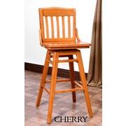 Benkel Seating Schoolhouse 30'' Swivel Bar Stool; Cherry