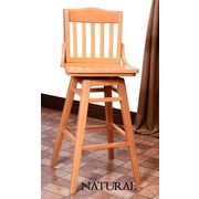 Benkel Seating Schoolhouse 30'' Swivel Bar Stool; Natural