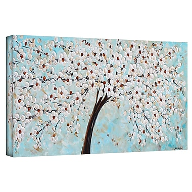 Bloomsbury Market 'Blossoms' Painting Print on Wrapped Canvas; 12'' H x 36'' W