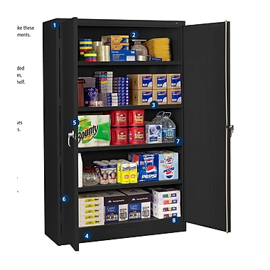 Tennsco Jumbo 78'' H x 48'' W x 24'' D Storage Cabinet; Black