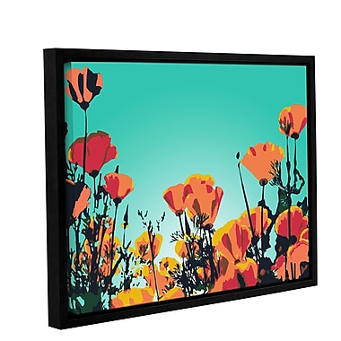 Latitude Run Turquoise Sky Framed Graphic Art on Wrapped Canvas; 8'' H x 10'' W