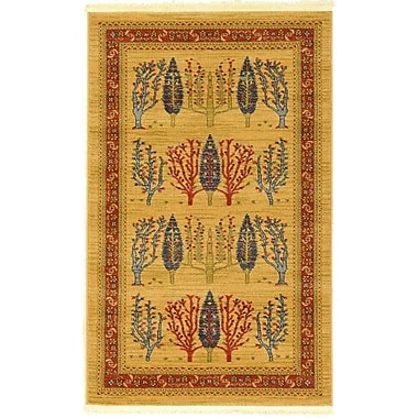 Bloomsbury Market Jan Mustard/Orange Area Rug; 3'3'' x 5'3''