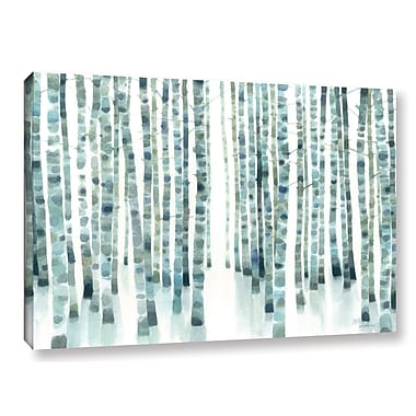Ivy Bronx Neutral Birch Grove Graphic Art on Wrapped Canvas; 32'' H x 48'' W