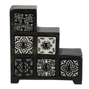 Kindwer Curios 6 Drawer Wood Apothecary Chest