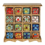 Kindwer Curios 16 Drawer Wood Apothecary Chest