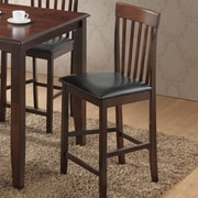 Best Quality Furniture 24.5'' Bar Stool w/ Cushion (Set of 2)