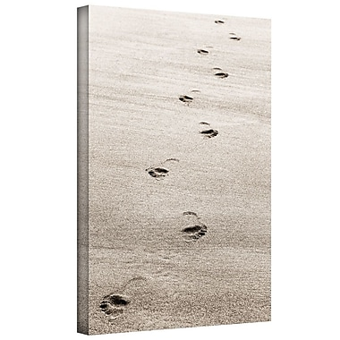 Highland Dunes 'Footprint' Photographic Print on Wrapped Canvas; 8'' H 12'' W