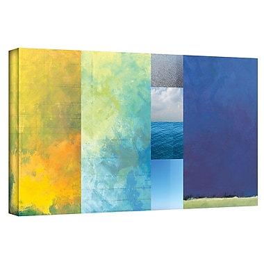Latitude Run 'Textured Earth Panel' Painting Print on Wrapped Canvas; 6'' H 12'' W