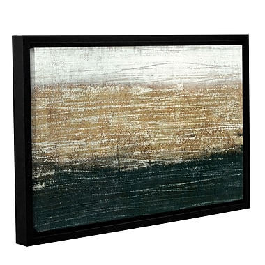 17 Stories 'Sandstorm' Framed Graphic Art on Wrapped Canvas; 24'' H x 36'' W