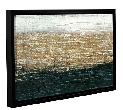 17 Stories 'Sandstorm' Framed Graphic Art on Wrapped Canvas; 32'' H x 48'' W