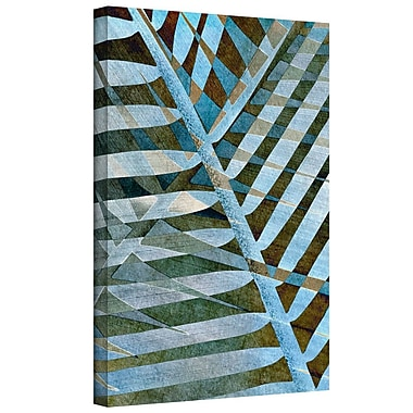 Bay Isle Home Palm Graphic Art on Wrapped Canvas; 24'' H x 36'' W