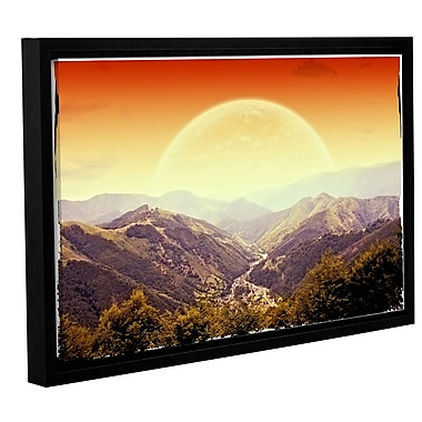 Ivy Bronx Highland Sunset Framed Photographic Print on Wrapped Canvas; 12'' H x 18'' W