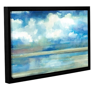 Highland Dunes 'Coastal Pools' Framed Painting Print on Wrapped Canvas; 8'' H 12'' W