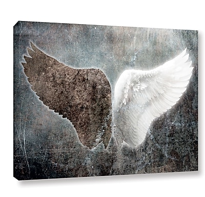 Ebern Designs 'Wings' Painting Print on Wrapped Canvas; 36'' H x 48'' W