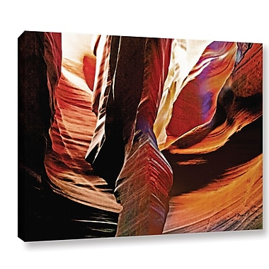 Ebern Designs 'Slot Canyon Light From Above 4' Photographic Print on Wrapped Canvas; 24'' H x 32'' W