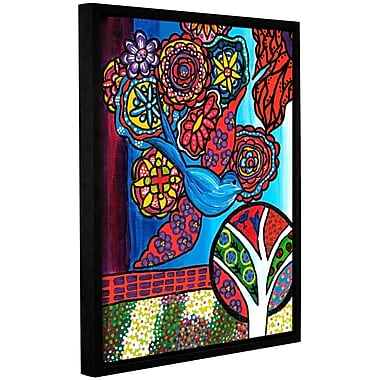 Red Barrel Studio Bird Framed Painting Print on Wrapped Canvas; 8'' H 10'' W